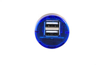 USB адаптер от прикуривателя авто (2 usb разъёма)
