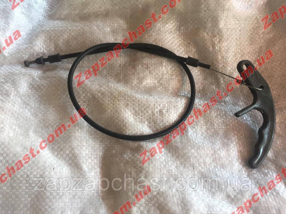 Трос привода замка капота Заз 1102 1103 таврия славута тяга-трос (узкая ручка) 1102-8406140