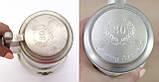 Коллекционная кружка, пивной бокал, керамика, оловянная крышка, Германия, фото 7