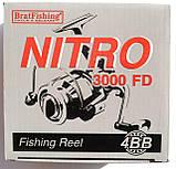 Катушка для рыбалки Брат Фишинг, NITRO 3000 FD, 4 подш., фото 3
