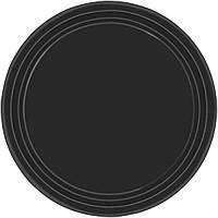Праздничные, черные тарелки. Одноразовая, праздничная посуда.