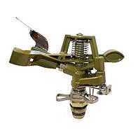 Ороситель Фрегат 8104 секторный, металл, для участков от 100 кв. м, сектор полива 10-360 градусов