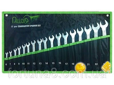 Набор ключей комбинированных Alloid 17 шт, 6-24 мм НК-2061-17, фото 2