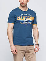 Мужская футболка LC Waikiki синего цвета с надписью California super