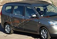 Нижние молдинги стекол Omsa на Dacia Lodgy 2013