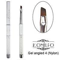 Кисть Komilfo Gel angled 4 (Nylon)