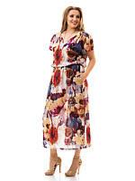 Льняное платье больших размеров