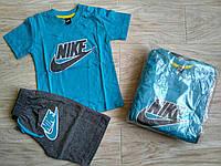 Летний Костюм футболка +шорти для мальчика костюм, костюми NIKE