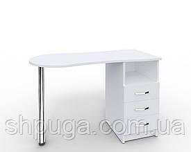 """Манікюрний стіл M100 """"Естет"""" білий c висувними ящиками"""