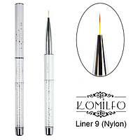 Кисть Komilfo Liner 9 (Nylon)