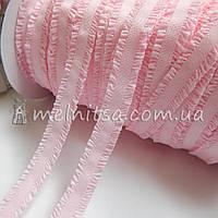 Резинка-рюш 13 мм, св. розовый
