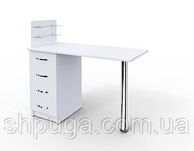 """Манікюрний стіл M 106 """"Класик"""" c скляними поличками під лак"""