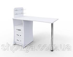 """Манікюрний стіл M104 """"Елегант"""" з скляними поличками під лак"""