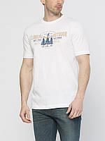 Мужская футболка LC Waikiki белого цвета с надписью на груди Climbing outdoor