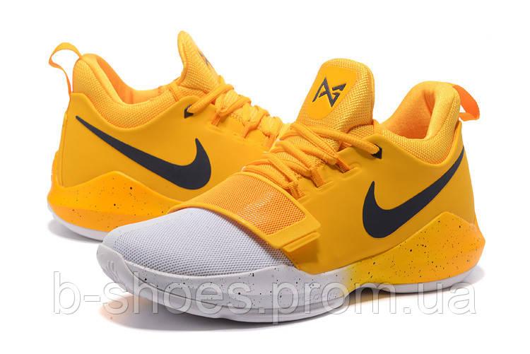 644bc331 Мужские баскетбольные кроссовки Nike Zoom PG 1 (White/Yellow) - B-SHOES