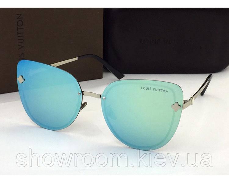 Женские солнцезащитные очки в стиле Louis Vuitton (18003) azure