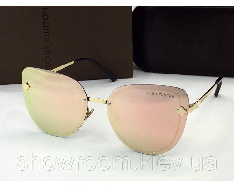 Женские солнцезащитные очки в стиле Louis Vuitton (18003) rose