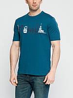 Мужская футболка LC Waikiki василькового цвета с надписью на груди Istanbul