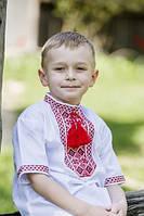 Вышиванка для мальчика с коротким рукавом.