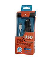 USB зарядка от прикуривателя с ударником для разбивания стекла + кабель micro USB