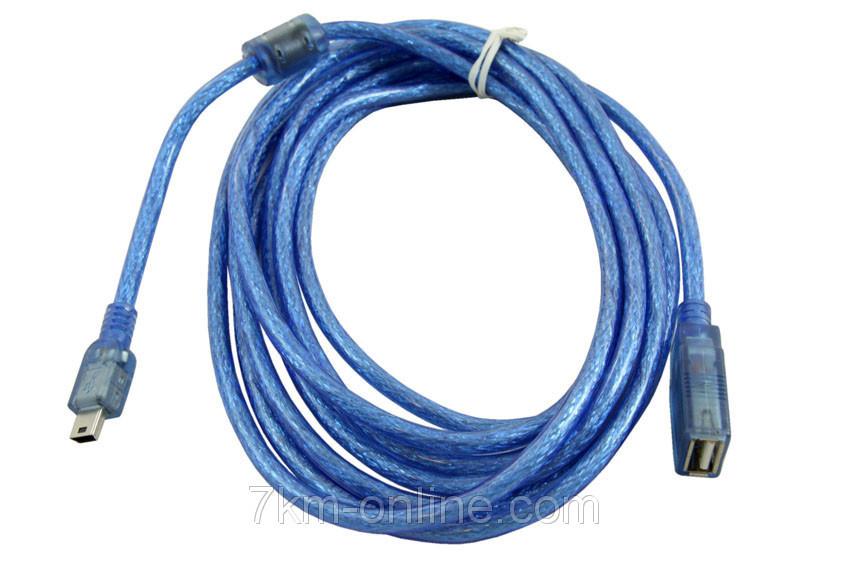 Кабель CU-1059 OTG USB AF- Mini USB 5P  3м (33)