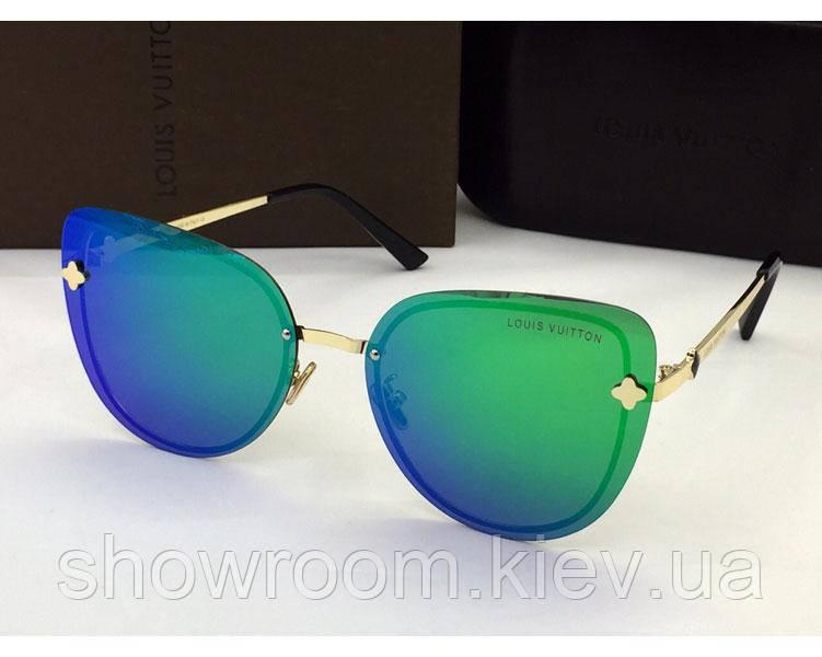 Женские солнцезащитные очки в стиле Louis Vuitton (18003) green