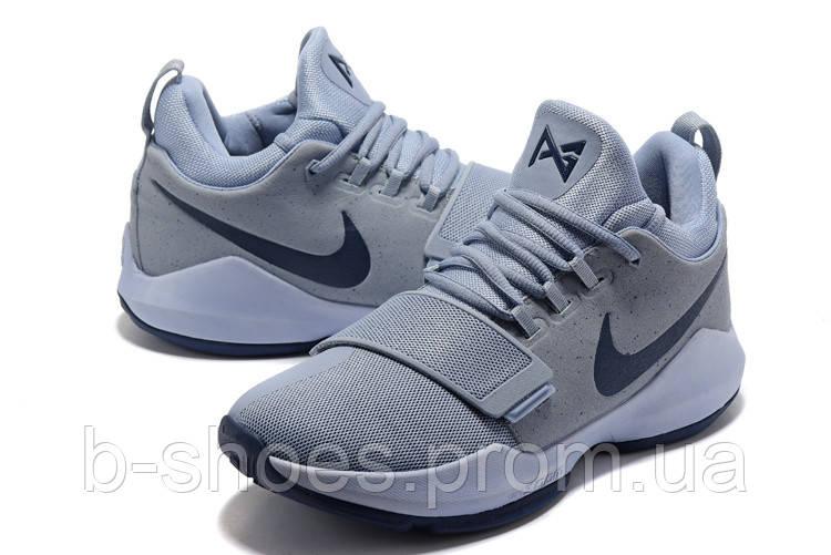 Мужские баскетбольные кроссовки Nike Zoom PG 1 (Grey/Blue)