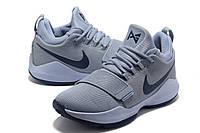 Мужские баскетбольные кроссовки Nike Zoom PG 1 (Grey/Blue), фото 1