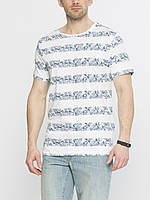 Мужская футболка LC Waikiki белого цвета в синюю полоску