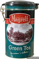 """Чай """"MAGRETT"""" зеленый индийский крупнолистовой """"GREEN TEA"""", жестяная банка 200 гр"""
