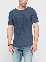 Мужская футболка LC Waikiki серого цвета с надписью Mysterious power