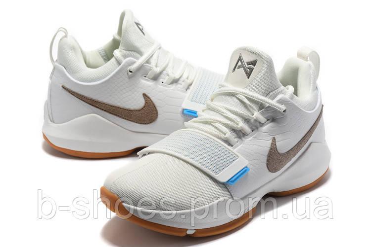 Мужские баскетбольные кроссовки Nike Zoom PG 1 (White)