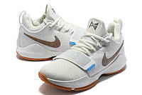 Мужские баскетбольные кроссовки Nike Zoom PG 1 (White), фото 1