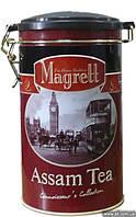 """Чай """"MAGRETT"""" черный индийский крупнолистовой """"АSSAM"""", жестяная банка 200 гр"""