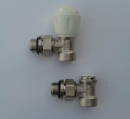Комплект(2шт) радиаторных кранов угловой RBM (Италия), фото 2