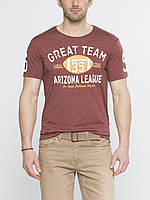 Мужская футболка LC Waikiki кирпичного цвета с надписью Great team