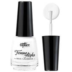 TopFace Лак для ногтей Alpha Femme PT-103 Тон 002 белый эмаль