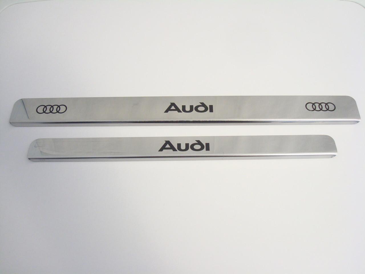 Хромированные накладки на пороги Audi