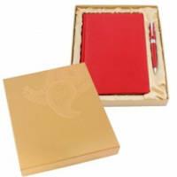 Комплект подарунковий: щоденник + ручка, червоний