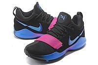 Мужские баскетбольные кроссовки Nike Zoom PG 1 (Bright Black), фото 1