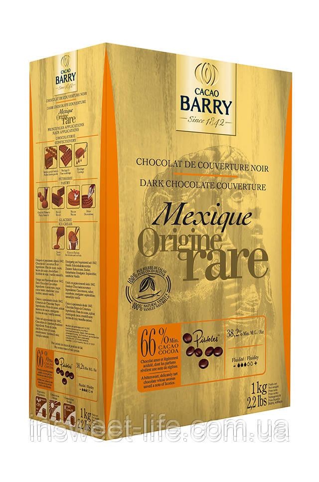 Шоколад черный Cacao Berry Mexico 66,0% 1кг/упаковка