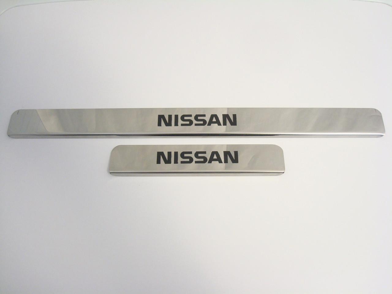 Хромированные накладки на пороги Nissan