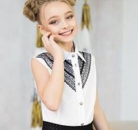 Блуза белая школьная для девочки