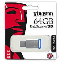 Флешка Kingston USB флеш накопитель Kingston 64GB DT50 USB 3.1 (DT50/64GB)