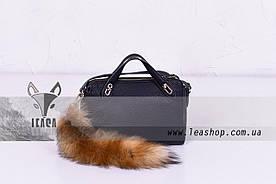 Меховой брелок на сумку из лисы
