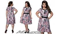 Милое цветочное женское платье с пуговицами