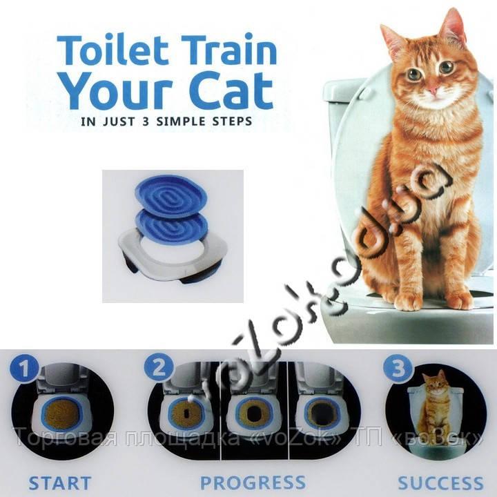 Сверхпрочный тренажер для приучения любых кошек к унитазу Toilet Train Your Cat