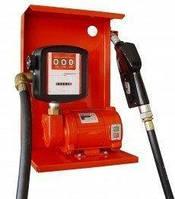 Насос для заправки, перекачки бензина, керосина, ДТ со счетчиком SAG 600 + MG80V, 24В, 45-50 л/мин