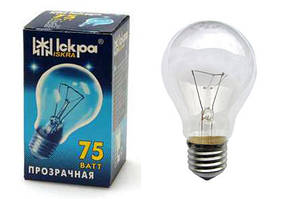 ИСКРА А55 (75 Вт) Лампа накаливания в индивидуальной упаковке