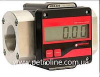 Электронный счетчик большого протока MGE 400 для дизельного топлива, масла, 15-400 л/мин
